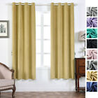Soft Velvet 52 x 84-Inch Window Drapes Curtains 2 Panels with Grommet Top Home