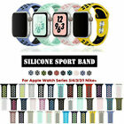 Kyпить Silicone Sport Replacement Band 38mm 42mm For Nike+ Apple Watch Series 5 4 3 2 1 на еВаy.соm