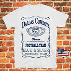Dallas Cowboys Jack Daniel NFL Jersey  T Shirt Men's Gift Tee Free Shipping $14.99 USD on eBay