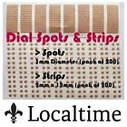 Pack Of 200 Watch Dial Spots Or Dial Strips Adhesive Packs Stickers Service Part