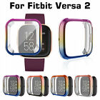 For Fitbit Versa Lite Smartwatch TPU Plated Case Full Cover Screen Protector US