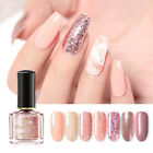 6ml BORN PRETTY Rose Gold Nail Polish Glitter Sequins Black White Nails Varnish