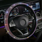 Universal Bling Rhinestone Car Steering Wheel Cover Interior Decor Accessories