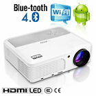 Android WIFI Smart Projector Blue-tooth Home Theater Online Video Apps HDMI AV