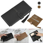 Bifold Leather Wallet for Women Soft Slim Clutch Credit Card Holder Long Purse