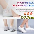 Unisex Invisible Height Increase Socks Heel Pads Silicone Insoles Foot NEW