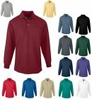 MEN'S RELAXED FIT, MID-WEIGHT, LONG SLEEVE, GOLF, POLO SHIRT, POCKET, XS-6XL