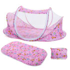 3pcs Foldable Infant Baby Mosquito Net Set Crib Bed Tent With Pillow Cotbed Set