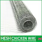 Pre-Galvanised Steel Chicken Rabbit Wire Mesh (13mm, 25mm & 50mm) Garden Fencing