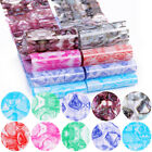 10 Pieces Of Nail Foil Stickers With Color Marble Flower Gilding Pattern Nail Ar