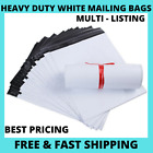 25|50|100 X White Mailing Bags Strong Parcel Postage Plastic Post Poly Self Seal