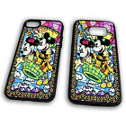 Mickey And Minnie Mouse Stained Glass Walt Disney Love Tpu Phone Case Cover