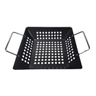 Large Black Steel Non Stick Outdoor Grill BBQ Barbecue Woks Pan Garden Cook Tray