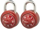 New!! Master Lock 1530T Combination Padlock,Assorted Red,Blue,or Purple 2-Pack