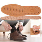 Men Cowhide Leather Shoe Insole Pad Breathable Odor Eater Shock Absorber