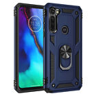 For Motorola Moto G Stylus/Fast Shockproof Armor Stand Case Cover+Tempered Glass