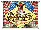 Anheuser Busch Black and Tan Beer Picture on Canvas Hung on Copper Rod, Ready to