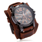Hot Retro Domineering Men's Cowhide Watches Double-layer Hand-stitched Bracelets