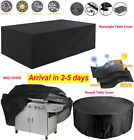 Heavy Duty Waterproof Patio Garden Furniture Bbq Cover Outdoor Rattan Table Sofa
