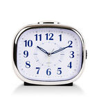 Non Ticking Bedside Alarm Clock Large Display Silent Sweep Desk With Night Light