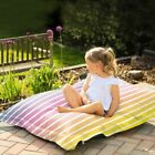 Ombre Stripe Junior Squarbie™ Beanbag - Use Indoor Or Outside In Garden