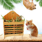 Grass Stand Small Pet Bamboo Removable Rabbit Food Bowl Hay Feeder Rack Holder