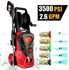 3500PSI 2.6GPM Electric Pressure Washer High Power Pressure Cleaner Sprayer