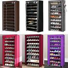 Kyпить New 10 Tier 30 Pairs Shoe Rack Tower Cabinet with Cover  Organizer Storage Shelf на еВаy.соm