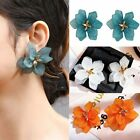 Exaggerated Flower Stud Earrings Stud Drop Dangle Women Girl Party Fashion Gift