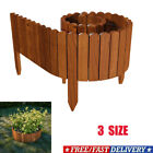 Spiked Roll Boarder Plug-in Fence 203 cm wooden border beds lawn edge