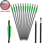 "12X 20"" Archery Crossbow Bolts Carbon Arrows Crossbow Hunting Target OD 8.8mm US"
