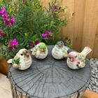 Colorful Bird Figurine Birds With Words Statue Home Garden Decor Signs Ornaments