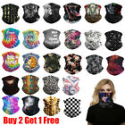 Kyпить Men Women Motorcycle Tube Mask Washable Face Cover Neck Gaiter Bandana Scarf на еВаy.соm