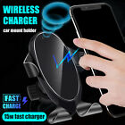 15W 360°Wireless 2in1 Car Cell Phone Holder Charger Fast Charging Air Vent Mount