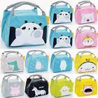 Adult Kid Cartoon Animal Printed School Lunch Bag Lunchbox Insulated Picnic Bags
