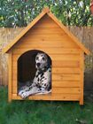 OUTDOOR WOODEN DOG KENNEL Pet House Weather Proof Shelter  - S, M, L, XXL