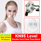 Reusable Masks Silicone Clear Mouth Cover Purify Respirator With Filters Pads Us