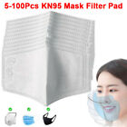 5-100pc Filters For Mask Insert Replaceable Adult Anti Haze Mouth Filter Pads Us