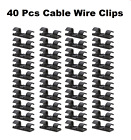 Upto 80x Self Adhesive Drop Wire Cable Winder Clips Power Cords Lines Organizer