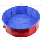 "39"" 63"" Foldable Dog Pet Kiddie Swimming Pool Collapsible Dog Pet Bathing Tub"