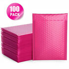 10-100x Bubble Mailers Padded Envelopes Bags Lined Poly Mailer Self Seal Pink