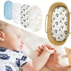 Bassinet Sheet Set Stretch Fitted Craddle Fitted Pads/Mattress Boys Girls Unisex