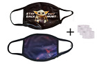 Stay Back You Must, Baby Yoda Face Mask, Washable, Reusable with Filter Pocket
