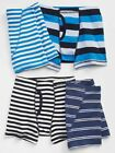 New Gap Kids Boys 4 Pack Boxer Briefs Underwear 7 8 10 12 14 Years Blue Stripes