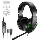 LED Gaming Headset Headphone Noise Reduction Mic Surround Sound for PS4/Xbox one