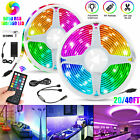 20ft/40ft SMD RGB 5050 LED Flexible Strip Light 44 Key RF Remote Bar Fairy Party