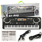 61 Key Music Electronic Keyboard Electric Digital Piano Organ with Microphone US photo