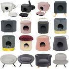 Cat Kitten Dog Pet Bed Stool House Igloo Chair Ottoman Cave Nest Seat w/ Cushion