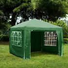Gazebo With Sides Garden Marquee PE Awning Beach Party Camping Tent Canopy 3x3m