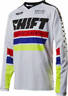 Shift Racing White/Black/Red/Blue/Yellow Recon Phoenix Dirt Bike Jersey MX ATV